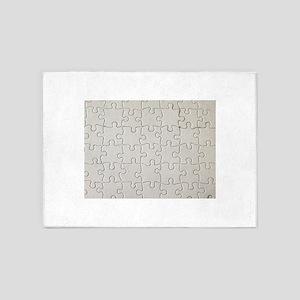 jigsaw puzzle print 5'x7'Area Rug