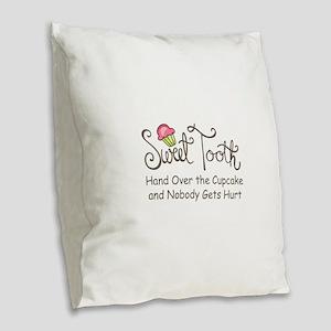 Sweet Tooth Burlap Throw Pillow