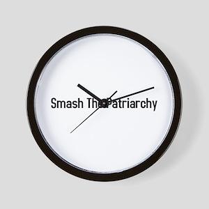 Smash the Patriarchy Wall Clock