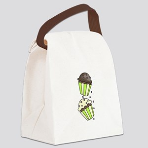 Cup Cakes Canvas Lunch Bag