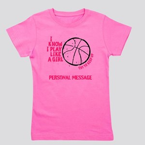 Personalized Basketball Girl Girl's Tee
