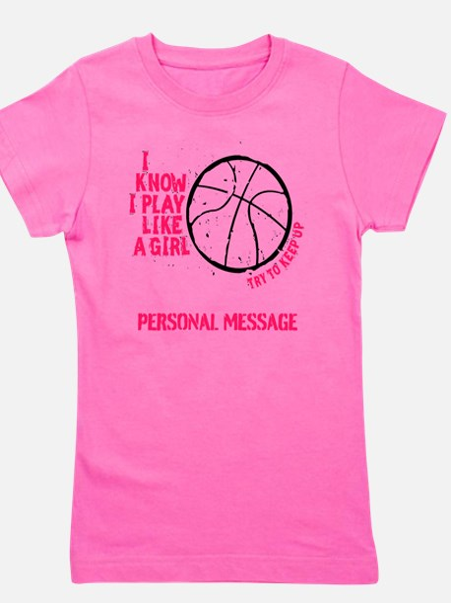 Personalized Basketball Girl Girl's Tee