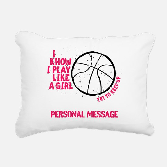 Personalized Basketball Rectangular Canvas Pillow