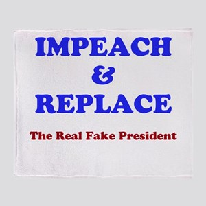 Impeach & Replace Throw Blanket