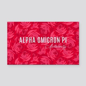 Alpha Omicron Pi Logo Rectangle Car Magnet