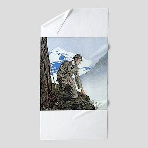 Skerock Holmes illustrations Beach Towel