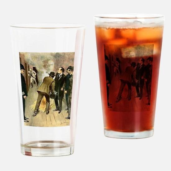 Skerock Holmes illustrations Drinking Glass