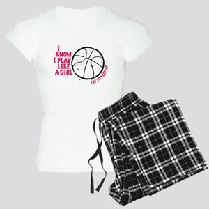 Play Basketball Like a Girl Women's Light Pajamas