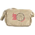 Play Basketball Like a Girl Messenger Bag