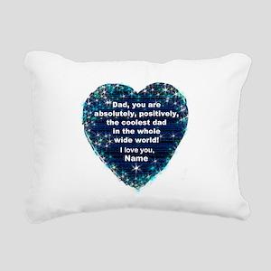 Custom Coolest Dad Rectangular Canvas Pillow