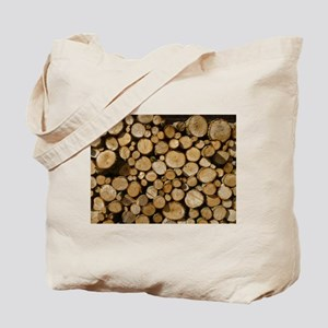 wood logs Tote Bag