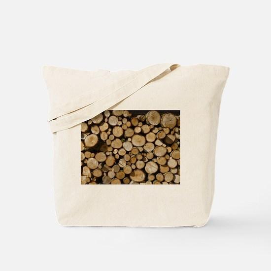 wood logs Tote Bag