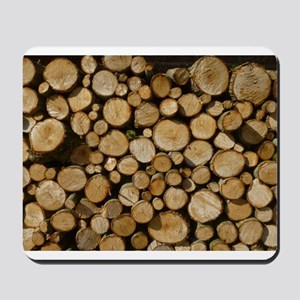 wood logs Mousepad