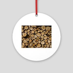 wood logs Ornament (Round)