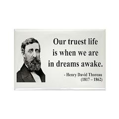 Henry David Thoreau 1 Rectangle Magnet (10 pack)