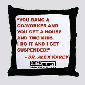 SUSPENDED! Throw Pillow