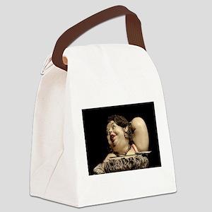 bbw fat acceptance lady Canvas Lunch Bag