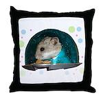 Spaceship Abby Throw Pillow