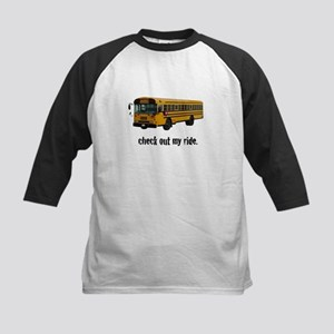 My Big Yellow Ride Kids Baseball Jersey