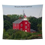 Marquette Harbor Lighthouse Wall Tapestry