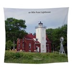 40 Mile Point Lighthouse Wall Tapestry