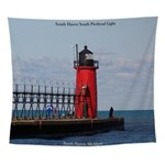 South Haven Pierhead Light Wall Tapestry