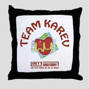 TEAM KAREV Throw Pillow