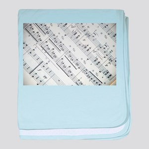 music notes baby blanket