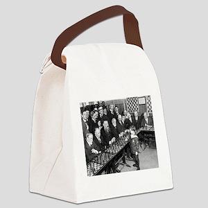 Samuel Reshevsky vs. The World Canvas Lunch Bag