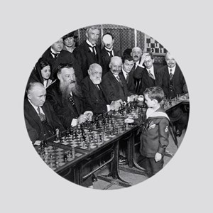 Samuel Reshevsky vs. The World Ornament (Round)