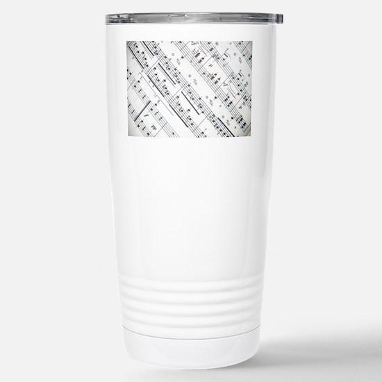 music notes Stainless Steel Travel Mug