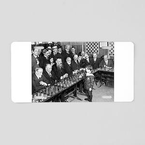 Samuel Reshevsky vs. The Wo Aluminum License Plate