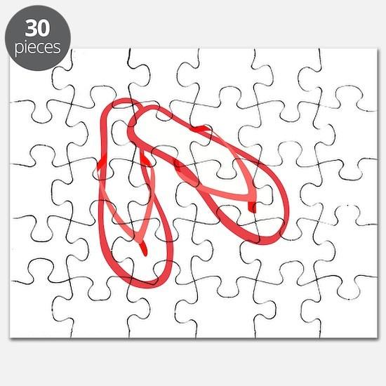 FLIP FLOPS APPLIQUE Puzzle