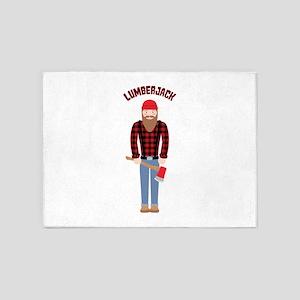Lumberjack 5'x7'Area Rug