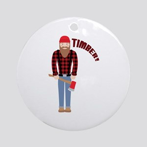 Timber! Ornament (Round)