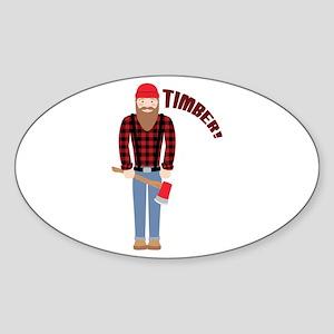Timber! Sticker