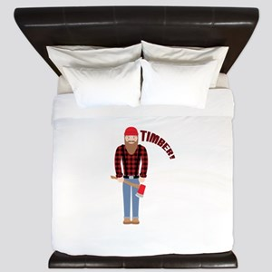 Timber! King Duvet