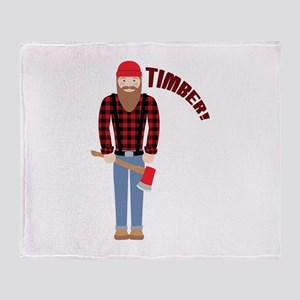 Timber! Throw Blanket