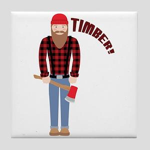 Timber! Tile Coaster