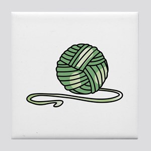 BALL OF KNITTING YARN Tile Coaster