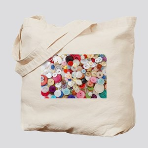 rainbow buttons Tote Bag