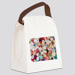 rainbow buttons Canvas Lunch Bag