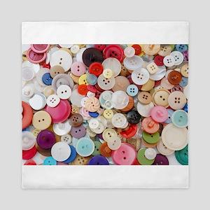 rainbow buttons Queen Duvet