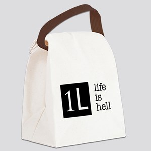 1L, life is hell Canvas Lunch Bag