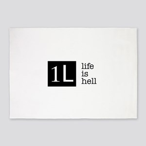 1L, life is hell 5'x7'Area Rug