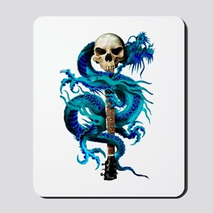 Blue Dragon Skull Mousepad