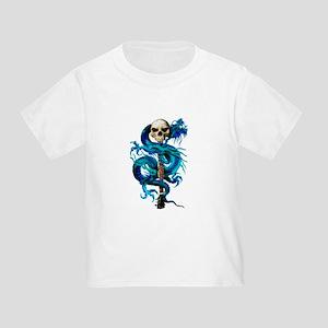 Blue Dragon Skull Toddler T-Shirt