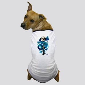 Blue Dragon Skull Dog T-Shirt