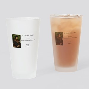 st. thomas more, patron saint of la Drinking Glass