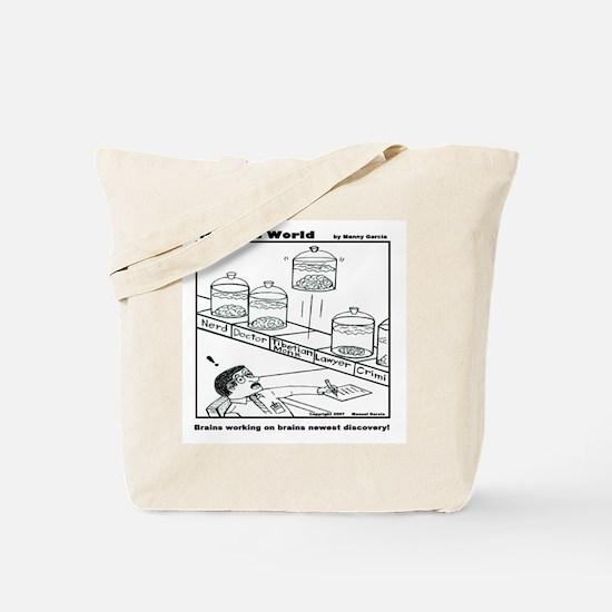 BRAINS WORKING ON BRAINS NEWE Tote Bag